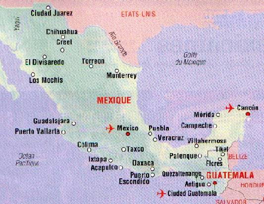 mexique mérida carte